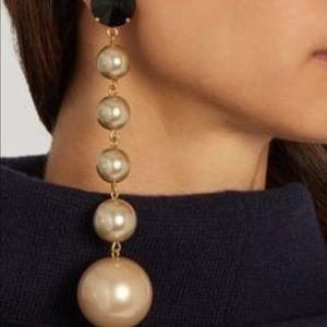 Marni Crystal & Faux Pearl Clio on Earrings
